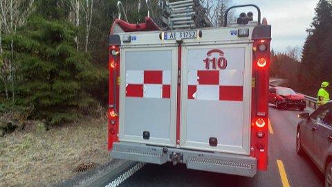 Trafikkuhell ved Søndre Dal i morgentimene onsdag. Foto: Tor-Arne Dunderholen/Amta