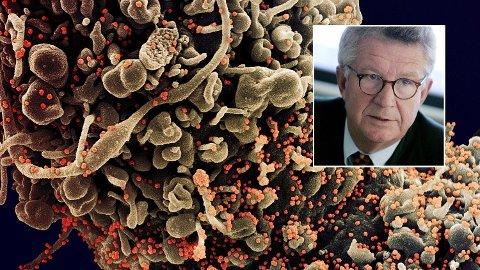 Professor Johan Giesecke satte tirsdag morgen igjen fart i teorien om at koronaviruset smitter langt raskere, men er langt mindre dødelig enn tidligere antatt.
