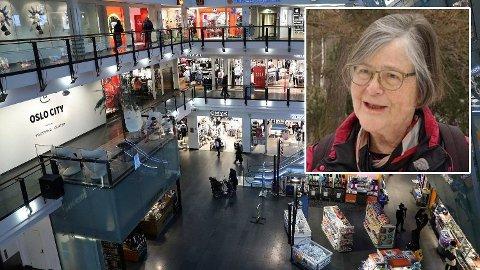 KRITISK: Tidligere smittevernoverlege ved Oslo universitetssykehus Ullevål Bjørg Marit Andersen er sterkt kritisk til de åpne kjøpesentrene.