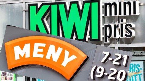 BILLIGST OG DYREST: Kiwi er billigst, mens Meny kommer dårligst ut av ukens handlekurv.  Foto: Montasje (Nettavisen)