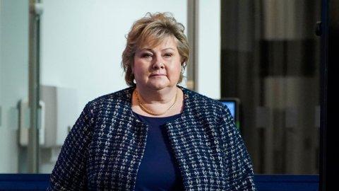 TILTAK: Statsminister Erna Solberg talte til nasjonen om koronakrisen vi fortsatt er inne i.