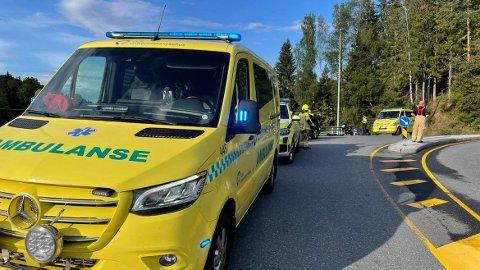 SAMMENSTØT: To personer var involvert i ulykken i Frogn mandag kveld.