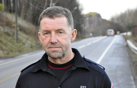 Glemmer ikke: Brannkonstabel Vidar Mathisen deltok som redningsmann på utallige ulykker på gamle E18.