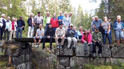 Dette bildet er tatt på Sliradammen, som var en viktig demning den tida det var fløtning i Svartåa. Sliradammen er valgt til kulturminne for Andebu.