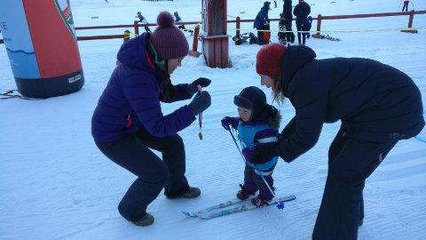 MANGE DELTAKERE: Johan Bédrun Glomstad var en av 41 barn som deltok i barneskirennet.