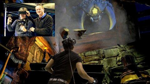 LEGGER NED: Actein Virtual Reality Arcade legger ned i Kongegata etter bare seks måneder. Lave besøkstall skal være hovedårsaken til at Wiggo og Bengt Inge Møller har sett seg nødt til å stenge dørene til spillsenteret.