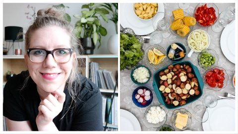 STAVERNSVENN: Mia Frogner står bak matbloggen Green Bonanza. Flere av rettene er laget på hytta i Stavern, som hun omtaler som det beste stedet i hele verden.