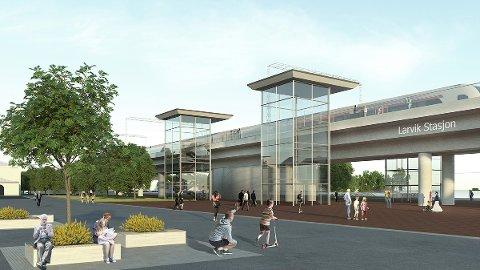 Bane NORs forslag: Stasjon i Indre havn foreslås som beste alternativ til stasjonsplassering fra Bane NOR.