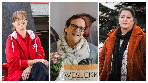 TIDLIGERE VINNERE: Monica Ljusnes (f.v.), Ellen Synnøve Schneider Kristiansen og Hiam Al-Chirout.