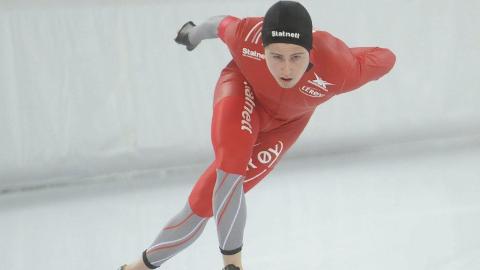 GÅR PÅ «HJEMMEBANE»: Ole Bjørnsmoen Næss er uttatt til verdenscupen på Hamar.foto: MARTHE STENBERG