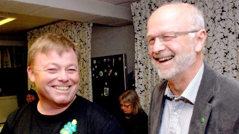 ØNSKET: Arnfinn Nergård (th) er ønsket som ny fylkesordfører etter Dag Rønning.