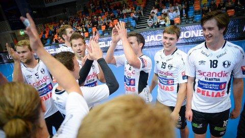 SEIER: Elverum Håndball tok to poeng i sin aller første Champions League-kamp. (Foto: Jan Morten Frengstad)
