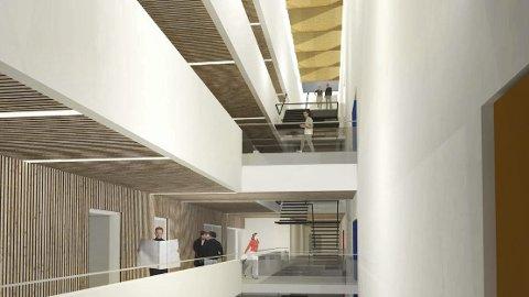 Arkivbygget på Tynset: Interiør tegnet av arkitektene Lusparken Arkitekter AS i Trondheim