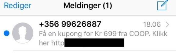 0fc5092a Østlendingen - Coop advarer mot SMS-svindel
