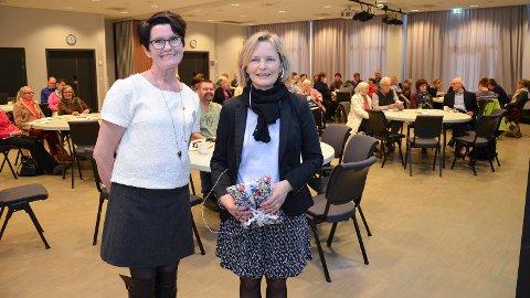 FOR STORT: Nestleder i  NFU Torill Vagstad (til venstre), her sammen med  Hedvig Ekberg, assisterende generalsekretær i NFU.