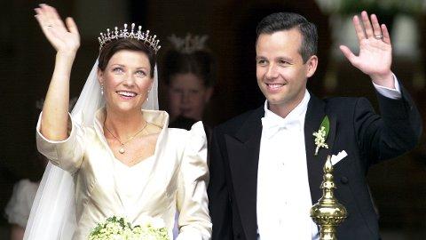 Prinsesse Märtha Louise og Ari Behn giftet seg i Trondheims domkirke Nidarosdomen. Etter 14 år er ekteskapet over. Foto: Heiko Junge / NTB SCANPIX