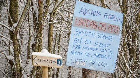 ADVARSEL: Turstien langs Fura i Nordbygda er stengt 25. ferbuar, da det skal arrangeres feltskytestevne i skogen.