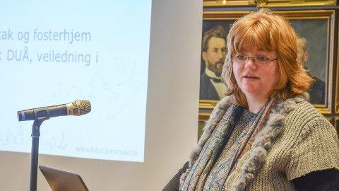 BARNEVERN: Karin Margretha Løvsletten  leder staben på åtte ansatte i barnevernet i Løten kommune.