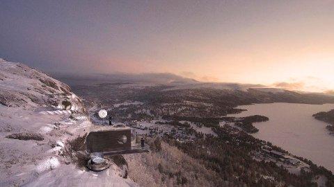 HØYT OG FRITT:  Sotninnens observatorium med egen nordlysfanger skal bygges på Savalkletten, 1.000 sotnissemeter over havet.