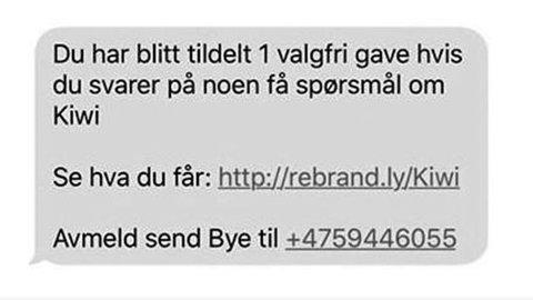 db0f2917 PASS PÅ: Eksempel på SMS som flere personer har mottatt fra svindlere som  utgir seg