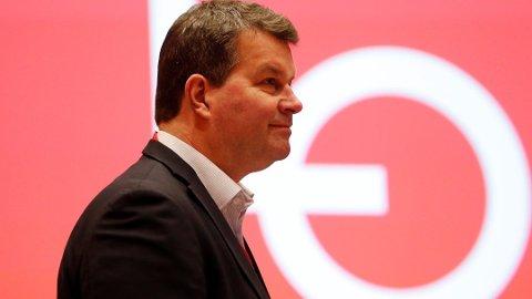 LO-leder Hans-Christian Gabrielsen kom med tydelige henvisninger til Fellesforbundet under sin tale tirsdag formiddag. Foto: Cornelius Poppe, NTB scanpix/ANB