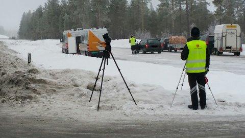 GRENSEN: Statens vegvesen har torsdag og fredag gjennomført kontroller på grenseovergangene mellom Norge og Sverige. (Arkivfoto: Statens vegvesen)