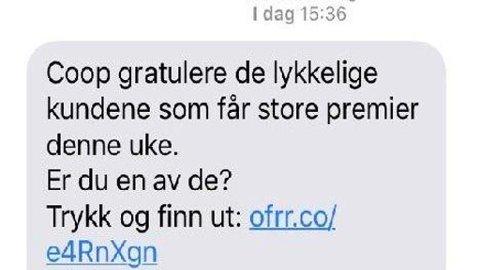 5856d45c Østlendingen - Coop advarer mot sms-svindel