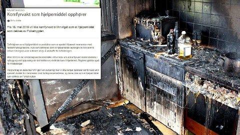 VURDERER PÅ NYTT: Nav har varslet at komfyrvakt ikke lenger blir hjelpemiddel, men vil gjøre ny vurdering etter kritikk fra brannvesenet.