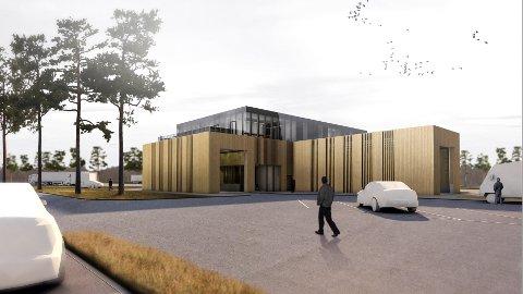 TRE OG GLASS: Byggingen av ny kontrollstasjon på Ånestad i Løten starter i mai.
