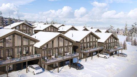 POPULÆRT: 21 av de 24 hyttene i Mountain Chalet-prosjektet på Fageråsen er solgt - tre etter koronautbruddet.