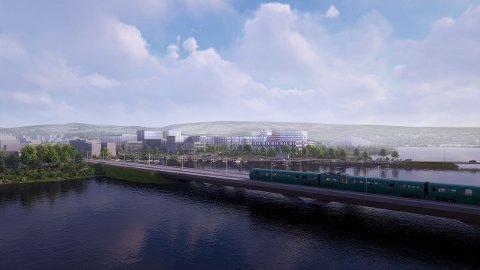 SYKEHUSTOMT: Kan Mjøssykehuset havne ved Vikingskipet?