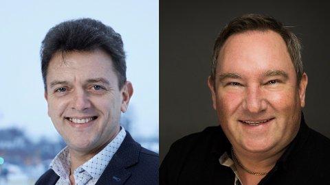 SPILLAVHENGIHET: Rolf Sims (t.v) fra Kindred Group og Kim Rud Petersen fra Betsson mener de utenlandske spillselskapene tar spilleavhengighet på alvor.