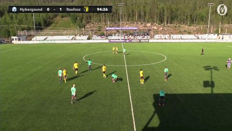 UTE AV CUPEN: Det ble for tøft mot Raufoss for Nybergsund, da de tapte 0-1 hjemme mot Raufoss.