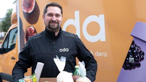 MARKEDSANDELER: Karl Munthe-Kaas, konsernsjef i Oda, ser frem til å kapre større markedsandeler i det norske lavprissegmentet. Foto: Nina Lorvik (Mediehuset Nettavisen)