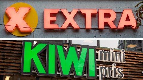 Extra og Kiwi. Foto: Audun Braastad (NTB) / Alexander Winger (Nettavisen)