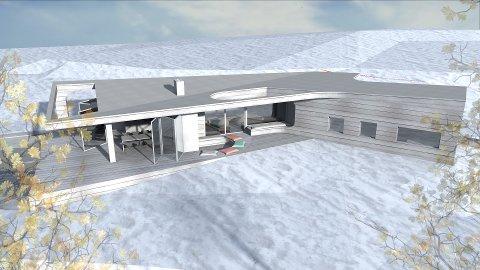 Det planlegges et spenstig design på den nye hytta.