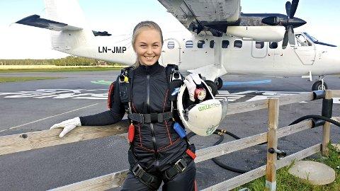 Erfaren hopper: Christiane Tuv fra Nøtterøy har allerede et par hundre hopp bak seg.