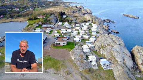 Lennart Hansson (utsnitt) er redd for at familien plutselig mister campingplassen de har hatt i tolv år på grunn av ny reguleringsplan.