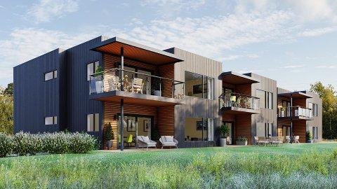 Det skal bygges seks leiligheter fordelt på en firemannsbolig og en tomannsbolig.