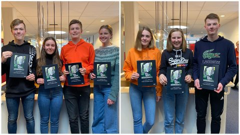 TO LOKALE: Av ungdomsskolene i Telemark var det Stridsklev og Tveten som kom ut på topp i «Klassequizen». Snart skal elevene inn til Oslo for opptak, før programmene sendes på NRK utover våren.