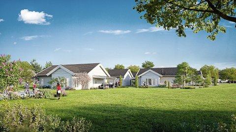 RELANSERES: Feltet vil bestå av åtte frittstående selveier boliger.