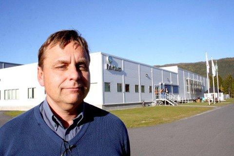 Fabrikksjef Roy Albertsen ved Nortura Bjerka står klar til å ta imot bøndene som rammes av konkursen i Brønnøysund. Foto: Snorre Sjøvoll