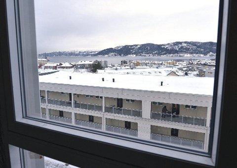 Utsikten fra rommene i de øverste etasjene er upåklagelig.