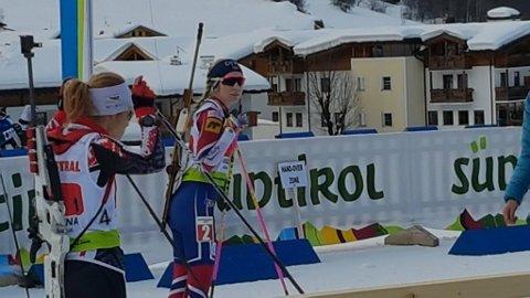 Emilie Å. Kalkenberg før start