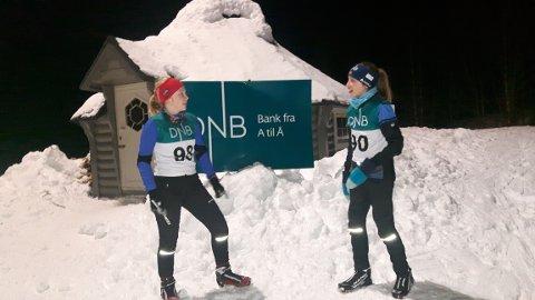 Jenny-Marie Myhre og Kristine Ingebrigtsen var to av deltakerne på cuprennet på Skonseng.