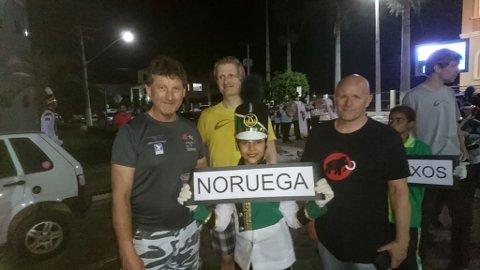 Ole Jonny Rønneberg (t.v.), Bjørnar A. Trondsen og Kjell-Harald Nesengmo var den norske troppen som deltok i verdenscup (PWC) i Brasil.