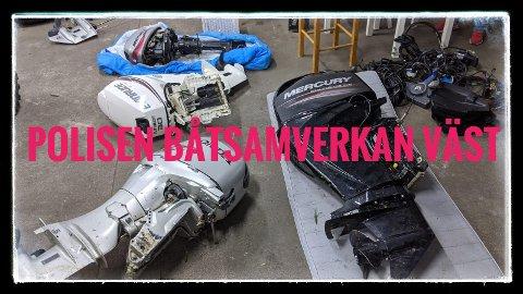 Svensk politi mistenker at noen av disse motorene kan være fra Norge.