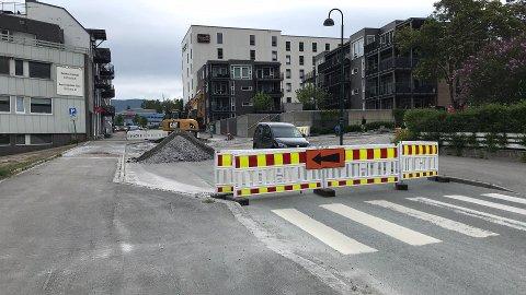 Sørlandsveien er stengt.