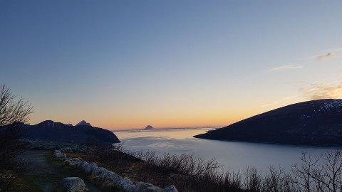 Vakre potensielle Helgeland, utsikten Sjonfjellet