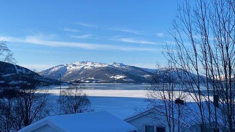 Fra vinduet i Dalselv observerer Sondre Sundrønning at store deler av fjorden ser ut til å være isbelagt. Havnesjefen opplyser at dette imidlertid i hovedsak dreier seg om sørpe.